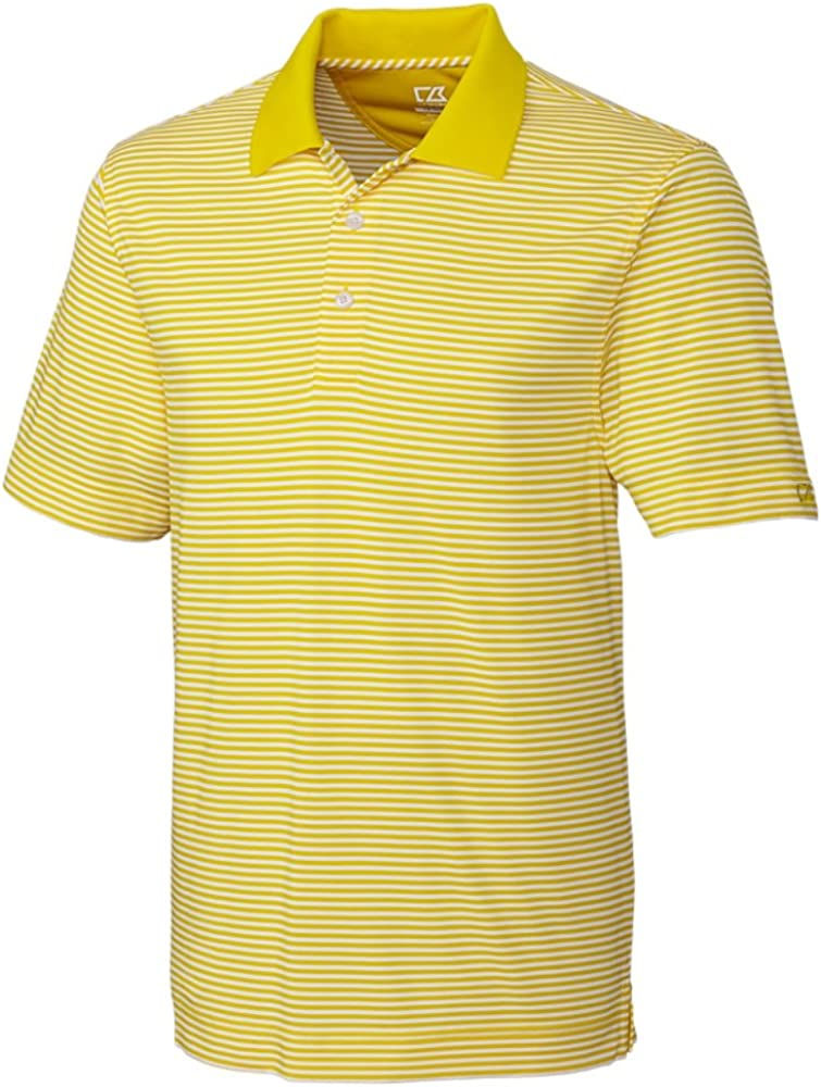 Cutter & Buck Big and Tall Drytec Trevor Stripe Polo (1XTall, Tuscany/White)