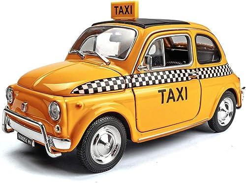 ventas directas de fábrica GAOQUN-TOY 1 24 Fiat Nuova Retro Classic Car Car Car Simulation Alloy Car Model Decoración Regaño (Color   amarillo, Tamaño   14cm7.5cm6.5cm)  compras online de deportes
