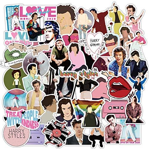 Singer Harry Styles Stickers 50 Pack Decals for Laptop Computer Skateboard Water Bottles Car Teens Sticker