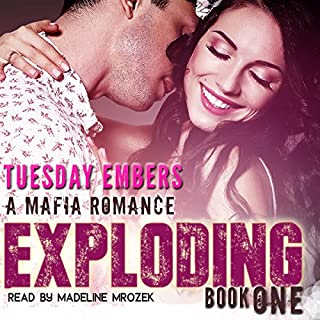 Exploding audiobook cover art