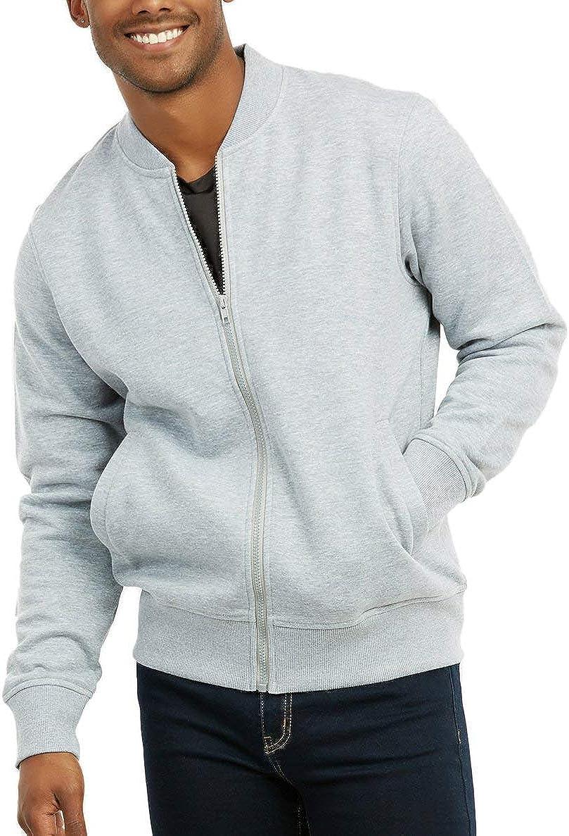 ToBeInStyle Men's Durable and Consistantly Stylish Fleece Bomber