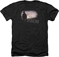Jericho Mushroom Cloud Apocalypse CBS TV Show Adult Heather T-Shirt Tee