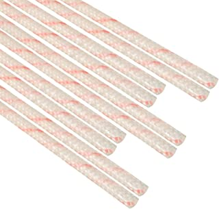 uxcell Fiberglass Sleeve 1.5mm I.D. PVC Insulation Tubing 1500V Tube Adjustable Sleeving Pipe 125 Degree Centigrade Cable Wrap Wire 900mm 2.95ft White and Red 10Pcs
