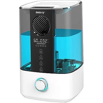 Nulaxy Ventilador Superior Humidificador 4,5L con RGB, Humidificador con Alarma Limpieza Humidificador Ultrasónico con Apagado Automático para Dormitorio, Hogar y Oficina de Hasta 20-70 m²