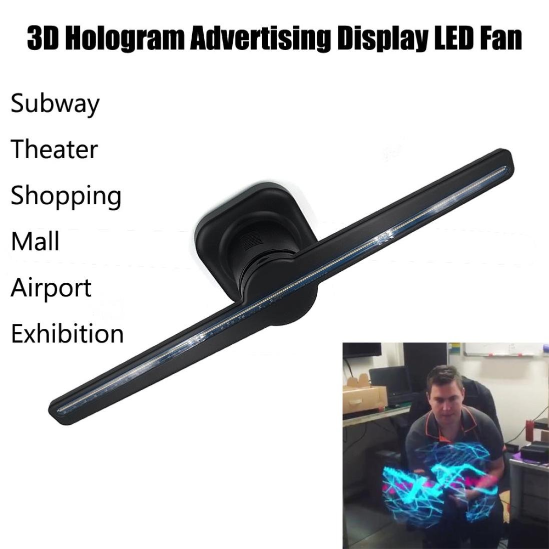 yjydada 3d Spinning holograma publicidad pantalla led Ventilador ...