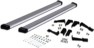 Hunter Premium Truck Accessories Polished Aluminum Running Board Fits 02-09 Chevy Trailblazer Extended Cab