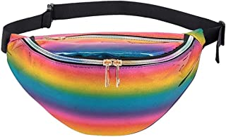 JHXS Clear Fanny Pack Waterproof Cute Waist Bag Stadium Approved Clear Purse Transparent Adjustable Belt Bag for Women Men, Travel, Beach, Events, BTS Concerts Bag
