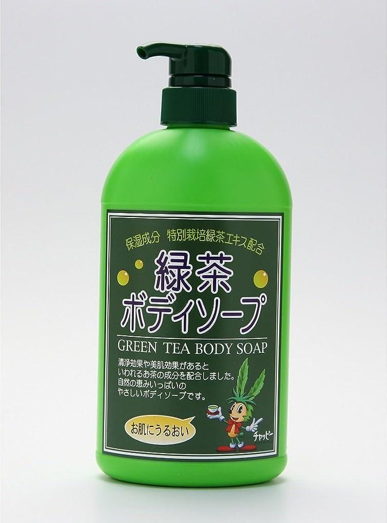 紫のヶ月目必要とする緑茶ボディーソープ 550ml