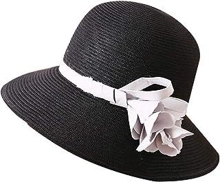 WN - Sombrero - Sombrero de Paja para Mujer Verano Visera Solar Plegable Anti-UV Viaje Sombrero para el Sol Sombrero de Playa Moda Salvaje (5 Colores) Sombrero para Mujer (Color : #5)