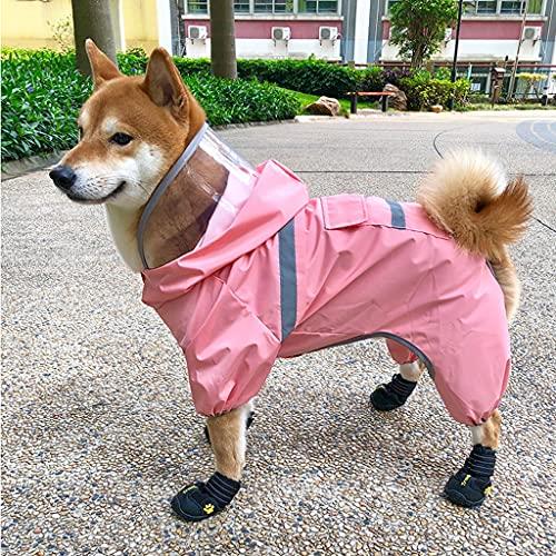 JYDQM Impermeable para Perros, Especial para Perros De Tamaño Mediano, Lluvioso, De Cuatro Patas, Impermeable, Todo Incluido, Corgi Teddy, Ropa para Poncho para Mascotas