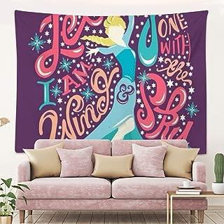 DISNEY COLLECTION Tapestry Disney Elsa Frozen Let It Go Princess Wallpaper Tapestry for Living Room Bedroom Dorm Home Decor 80 Inch60 Inch