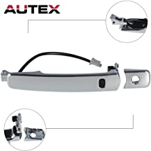 AUTEX Exterior Door Handle W Smart Entry Compatible with Nissan Murano 2003-2007,Nissan Rogue 08 09 Replacement for Infiniti FX35 FX45 03-08 Door Handle Door Handle Front Left