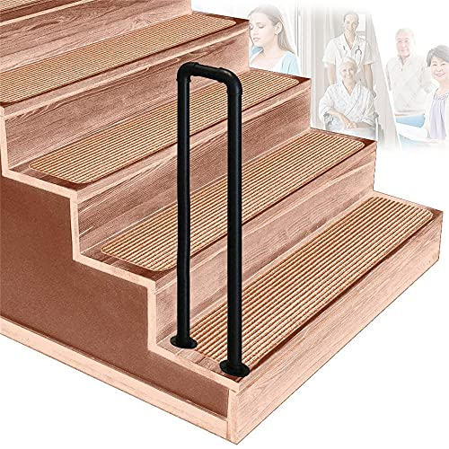 SGYSDSL Barandillas para escaleras, Arco Interior, Negro Mate, barandilla para escaleras, pasillos para Personas Mayores, pasamanos para lofts, para escalones de hormigón o escaleras de Madera con k