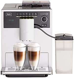 Melitta CAFFEO Ci, Plata-Máquina de café, 1400 W, 1.8 litros, 15 Decibelios, Acero Inoxidable