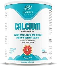 Nature's Finest Bebida de calcio 150g | Citrato de calcio en polvo de alta absorción totalmente natural| Apto para vegetarianos y veganos | Huesos y dientes fuertes