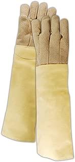 Flame Resistant Kevlar/PBI Fiber Blended Glove with Heat Resistance Over 1000°F (KB1323WL) - Wool Lining, 23