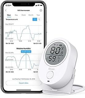 デジタル温湿度計 WiFi温度計 湿度計 Govee LCD大画面 アプリコントロール グラフ記録とデータ輸出機能付き 置掛兼用 高精度 温湿度異常アラーム機能付き ワイヤレス 室内 Amazon Alexa 対応