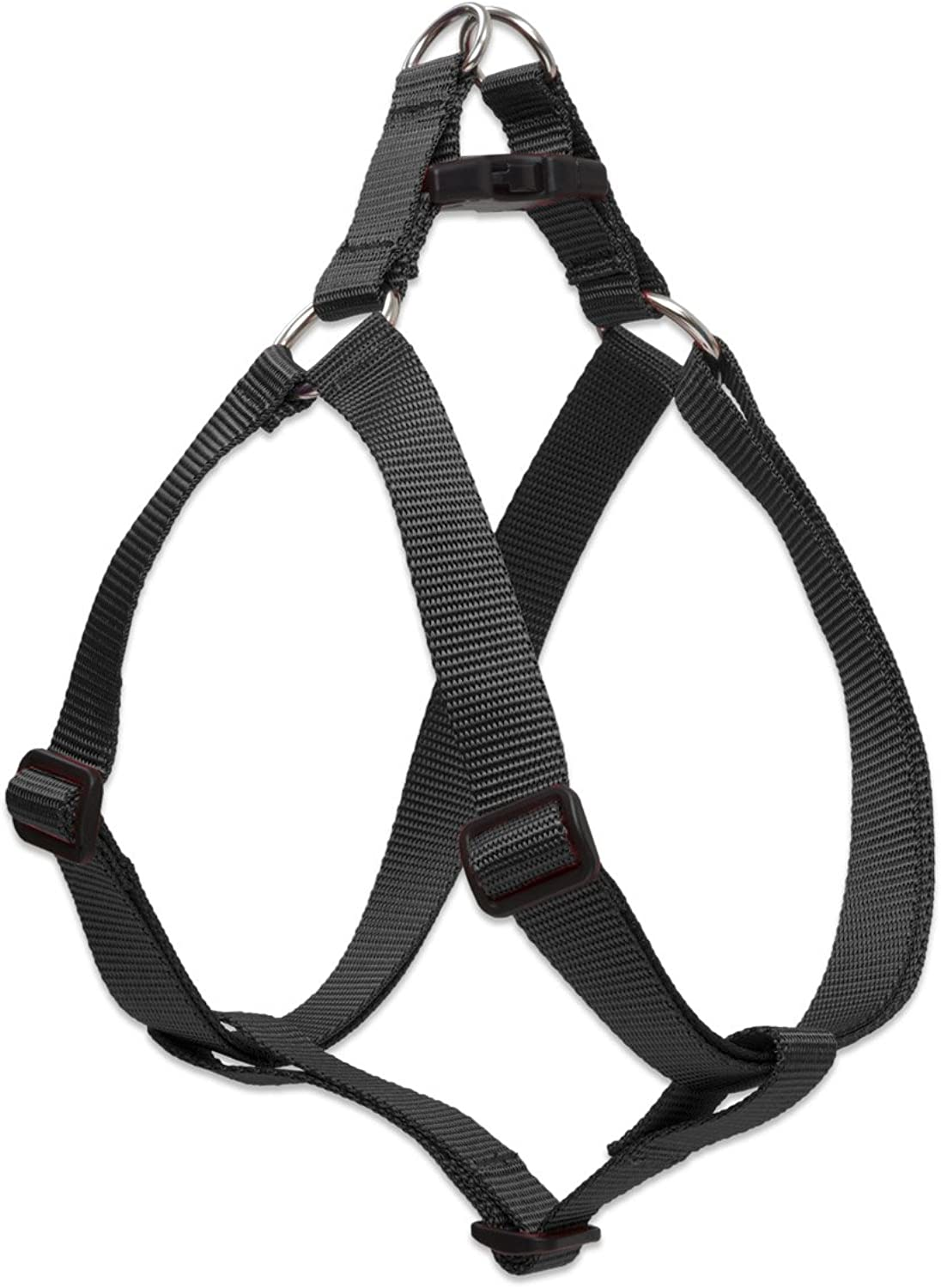 Lupine StepIn Harness for Larger Dogs, 19 to 28Inch Girth, 1Inch Wide, Black