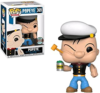 Funko Popeye (Specialty Series): Popeye x POP! Animation Vinyl Figure & 1 POP! Compatible PET Plastic Graphical Protector ...