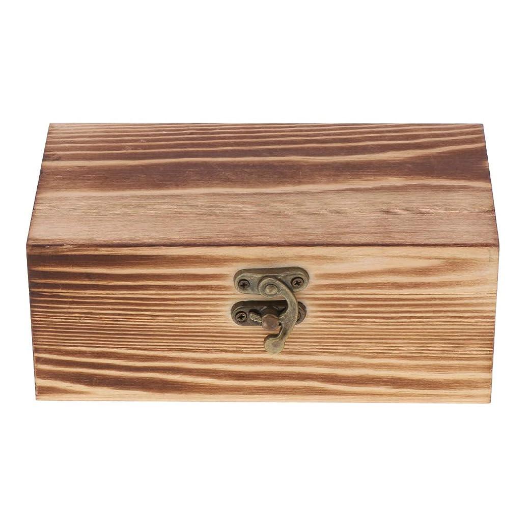 Hellery 収納ボックス木製未完成収納用品長方形DIY工芸品小物入れ趣味ふた付き - メートル