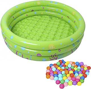 Lunji Balles Color/ées Plastique 5,6cm Balles Piscine Jeux Exterieur pour Enfant B/éb/é 50pcs
