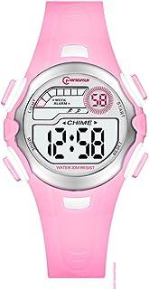 Niño Relojes Digitales,Estudiante Digital Watch Impermeable Encantador Relojes Digitales Correa con Hebilla Pasador