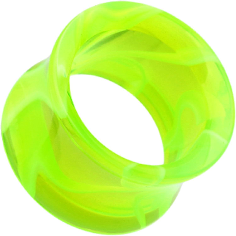 Marbled Swirl Acrylic Double Flared Ear 35% OFF So Plug Green Tunnel Portland Mall -