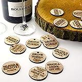 Personalizzato rustico in legno drink gettoni o buoni, cerchio disco o bomboniere, inviti vintage. Natural Wood