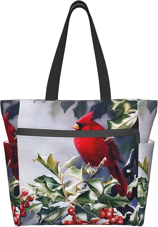 Women's Tote Bag Red San Antonio Mall Birds Portable HandBags Storage Worki Daily Ranking TOP17