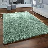 Alfombra Shaggy Salón Verde Pelo Largo Mullida Suave Cómoda Robusta, tamaño:160x220 cm