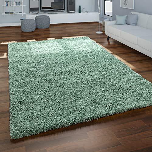 Alfombra Shaggy Salón Verde Pelo Largo Mullida Suave Cómoda Robusta, tamaño:120x170 cm