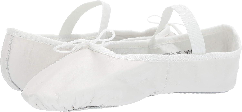 Leo Women's Ballet Russe Dance Shoe, White, 9.5 D US