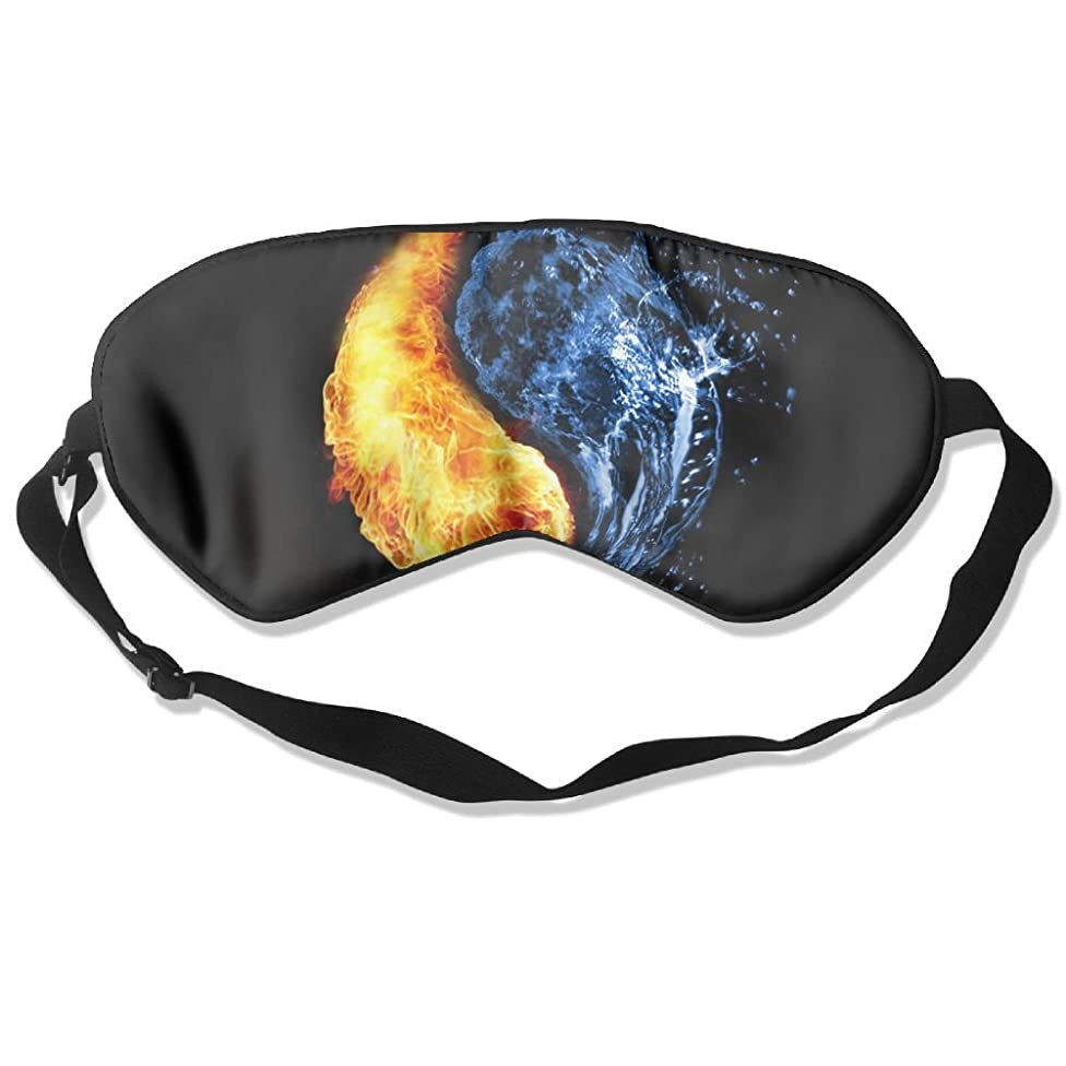 Sleep Eye Mask Volleyball Fire Water Lightweight Soft Blindfold Adjustable Head Strap Eyeshade Travel Eyepatch