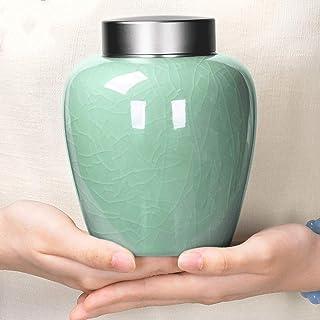 Mopoq Adult funeral Ur, ceramic, large capacity, double cover, moisture-proof seal, handmade, high temperature cremated Ur...