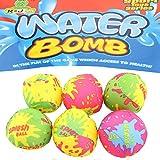 JONOTOYS Wasserbomben Wasserball Set 6tlg Spielball Ball circa5cm Splash Strandball Beachball -