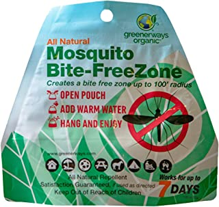 GREENERWAYS ORGANIC Mosquito Repellent Zone - New Improved Formula, Non-Toxic All Natural Backyard Insect Repellent Outdoor Mosquito Repellant Pest Control, DEET-Free Safe for Kids, Babies, Dogs