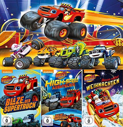 Blaze und die Monstermaschinen - DVD 1+2+3 im Set - Deutsche Originalware [3 DVDs]