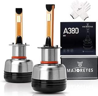 MAJOREYES LED Headlight Bulbs,H1-60W-10000LM-6000K,Extremely Bright Conversion Kit,2 Years Warranty
