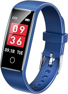 スマートウォッチ 活動量計 GPS運動記録 IP67防水 スマートブレスレット 歩数計 カラースクリーン 電話着信 LINE アプリ通知 睡眠モニター 腕時計 iphone/Android対応 V10 日本語説明書 (ブルー)