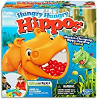 Hungry Hungry Hippos - Classic Board Game - Chomp the Marbles - Chase the Golden Marble - 2 to 4 Players - Kids Board...