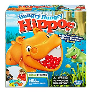 Hungry Hungry Hippos - Classic Board Game - Chomp the Marbles - Chase the Golden Marble - 2 to 4 Players - Kids Board Games and Toys for Kids - Girls and Boys - Ages 4+ (B008FD8ETS)   Amazon price tracker / tracking, Amazon price history charts, Amazon price watches, Amazon price drop alerts