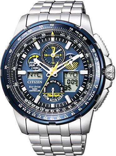[シチズン]CITIZEN 腕時計 PROMASTER プロマスター エコ・ドライブ 電波時計 スカイシリーズ 限定 ブルーエンジェルスモデル JY8058-50L メンズ
