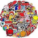 Afufu Pegatinas Casco Moto 100-Pcs Pegatinas Ordenador, Impermeable Pegatinas Moto Stickers Pegatina de Vinilo para Laptop, Coche, Maleta, Casco Bicicleta, Bicicleta, Portátiles