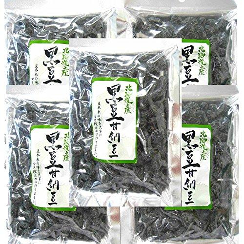 北海道産黒豆使用。北海道産黒豆甘納豆(140g×5パック)