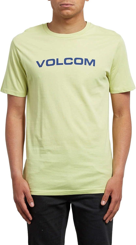 Volcom Crisp Euro BSC Short Sleeve TShirt Large Shadow Lime