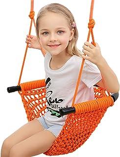 Hi-Na Kids Swing Seat Tree Swing Seat for Kids Rope Swing Swing Seat for Kids Indoor Swing for Kids Outdoor Swing Seat Backyard Swing Tree Swing Seat Door Swing for Kids (Orange)