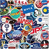 ZJJHX NASA Aerospace Sticker Personalidad Cartoon Computer Water Cup Flat Sticker Equipaje Maleta Sticker Impermeable 32 Piezas