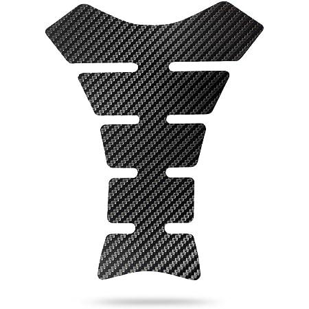 Qiilu Kohlefaser Motorrad Tankdeckel Pad Tankpad 5d Abdeckung Universal Für Motorrad Tank Aufkleber Kohlefaser Abdeckung Gel Kohlefaser Auto