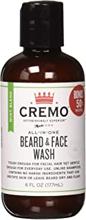 Cremo Beard and Face Wash, Mint Blend, 6 Ounce - One Step to an Astonishingly Clean and Perfectly Moisturized Beard
