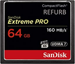 SanDisk Extreme PRO 64GB Compact Flash Memory Card UDMA 7 Speed Up to 160MB/s - SDCFXPS-064G-X46 (Renewed)